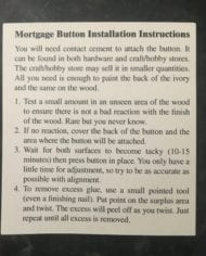 mortgage button installation