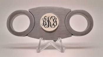 Custom monogrammed cigar cutter